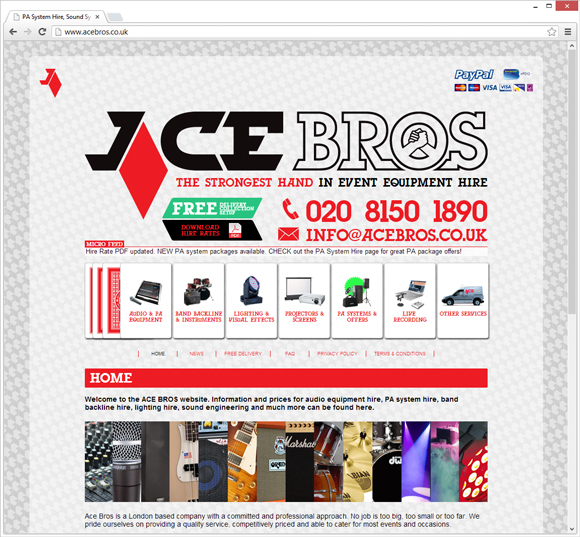 ACE Bros home page