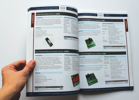 ECP catalogue spread