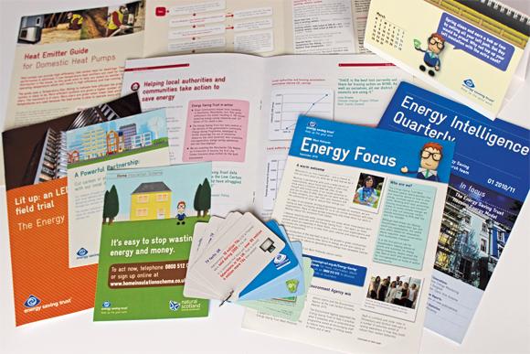 A range of EST printed materials