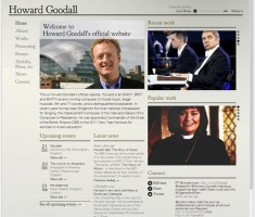 Howard Goodall home page