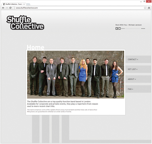 Shuffle Collective home page