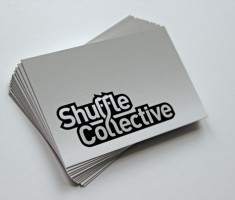 Shuffle Collective business card stack