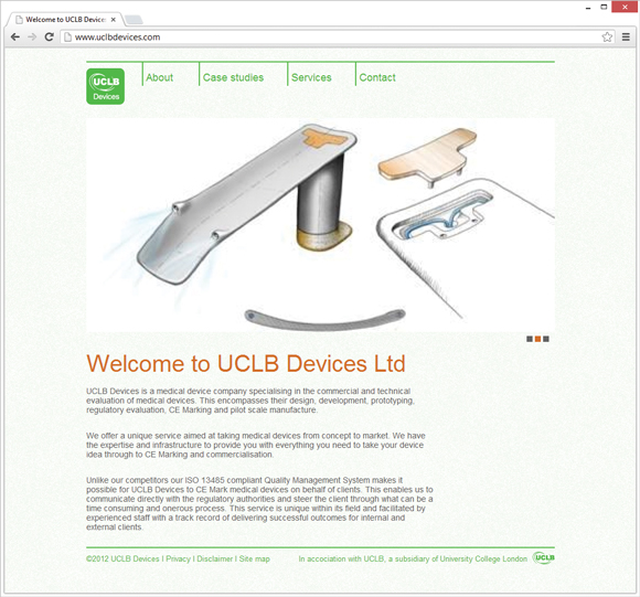 UCLB Devices home page